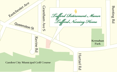 Map to Tufford Retirement Manor & Nursing Home